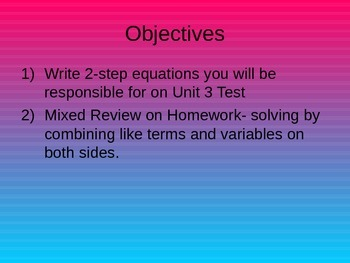 Setting Up more Complex Equations from word problems