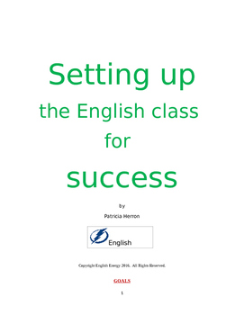 Setting Up the English Class for Success