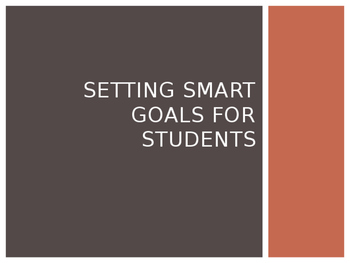 Setting a SMART Goal for Students
