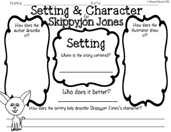 Setting and Character FREEBIE inspired by Skippyjon Jones by Judy Schachner