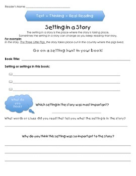 Settings in a Story - For Any and All Stories