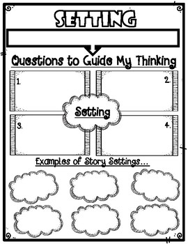 Setting of a Story Graphic Organizer Anchor Chart