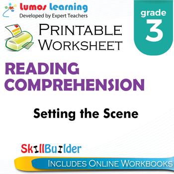 Setting the Scene Printable Worksheet, Grade 3