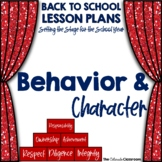 STS Behavior and Character Lesson Plan for Back to School