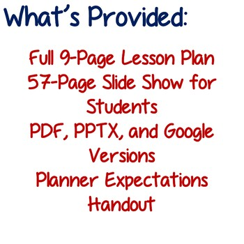 Setting the Stage: Personal Organization Lesson Plan - Back to School