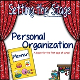 STS Personal Organization Lesson Plan for Back to School |