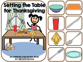 Setting the Table- A Thanksgiving Adapted Book {Autism, Early Childhood}