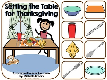 Setting the Table- A Thanksgiving Adapted Book {Autism, Ea