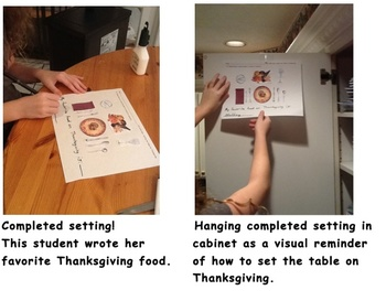 Setting the Table Lesson for the Holidays, Following Directions - Life Skill