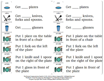 Setting the Table Step-by-Step Visual