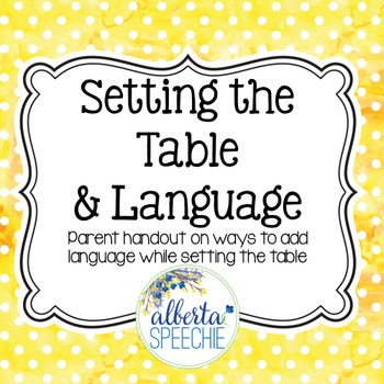 Setting the Table and Language
