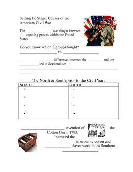 Setting the stage for the Civil War GN - 1