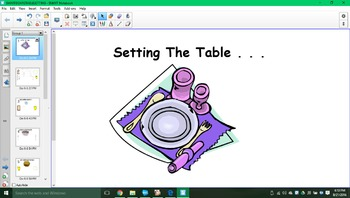 Setting the table SMARTboard activity!!!