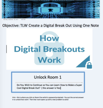 Setting up a Digital Break OUT using OneNote