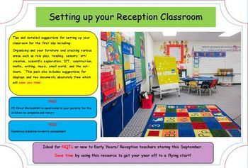 Setting up your Classroom (Kindergarten & EYFS).  New Teachers to Kindy.