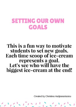 Setting your own goals cards (Ice-cream cones)