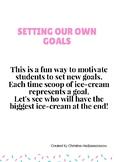 Setting your own goals cards (Ice-cream cones)