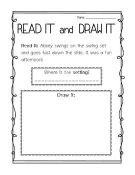 Settings: Read It and Draw It