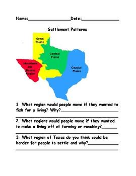 Settlement Patterns, Regions, Rivers