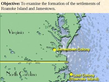 Settlement of Roanoke Island and Jamestown PowerPoint Presentation