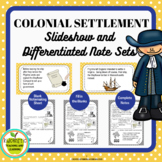 Settlement of the Thirteen Colonies Slideshow and Differen