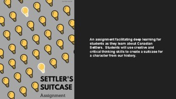 Settler's Suitcase Assignment