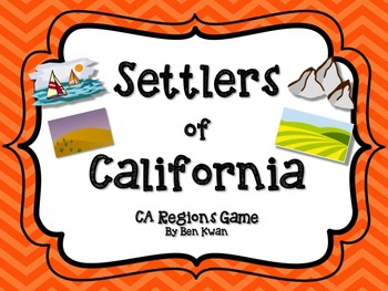 Settlers of California (Regions of CA) Game