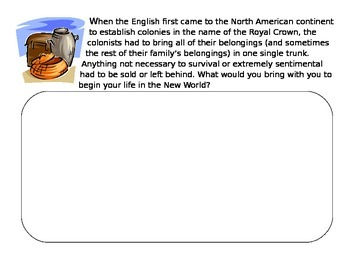 Settling The American Colonies - Creative activity