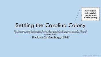 Settling the Carolina Colony
