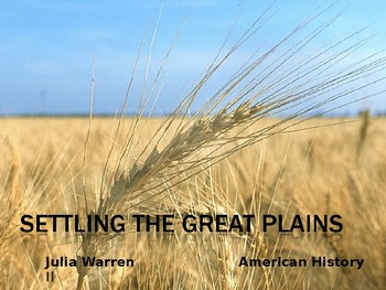 Settling the Great Plains
