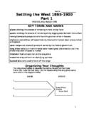 Settling the West Part 1 Packet- Miners and Ranchers
