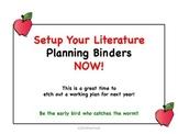 Setup Your Literature Binders