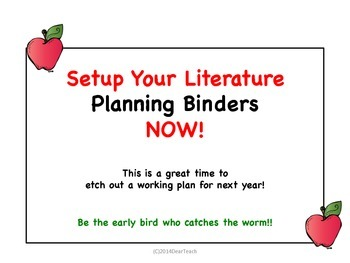 Setup Your Literature Binders