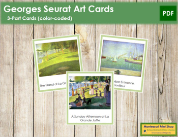 Seurat (Georges) 3-Part Art Cards - Color Borders