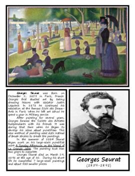 Seurat Montessori 3 Part Cards with Display Card