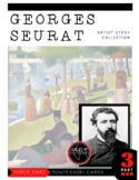 Artist Georges Seurat Montessori 3 Part Cards with Display Card