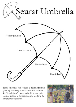 Seurat Pointillism Umbrella