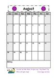 Seuss 12 Month Calendar