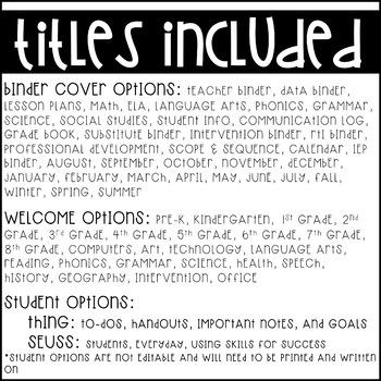 Dr. Seuss Binder Covers {Editable}