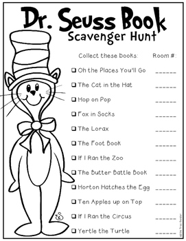 Seuss Book Scavenger Hunt