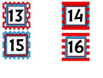 Seuss Calendar Cards