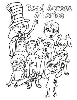 seuss coloring page  read across americaprimary painters  tpt