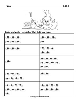 Green Eggs and Fish Counting Practice Pages: Numbers to 10: 16 pgs