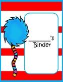 Seuss Inspired Binder Covers