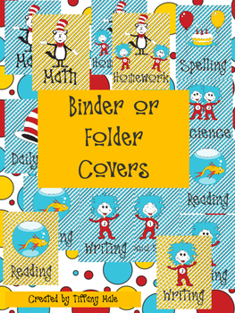 Seuss Inspired Binder/ Folder Covers