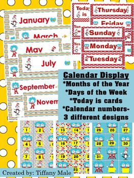 Seuss Inspired Calendar