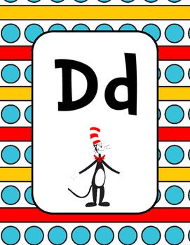 Seuss Inspired Cat Alphabet Posters