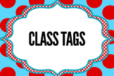 Seuss Inspired Classroom Decor or Tags
