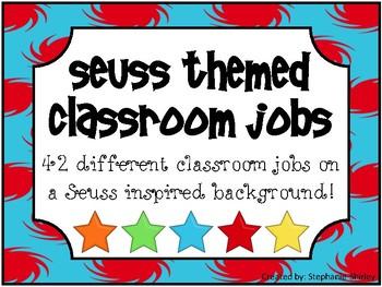 Seuss Inspired Classroom Jobs