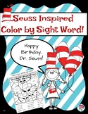 Seuss Inspired Color by Sight Word